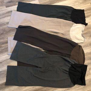 Bundle of 4 maternity work pants/ slacks size L